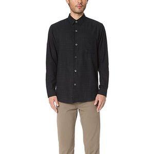 Men's Theory Black Rammis Valmeyer Button Up Shirt